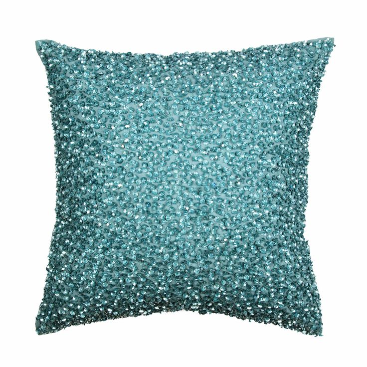 Shimmer Teal Cushion possibly for bedroom