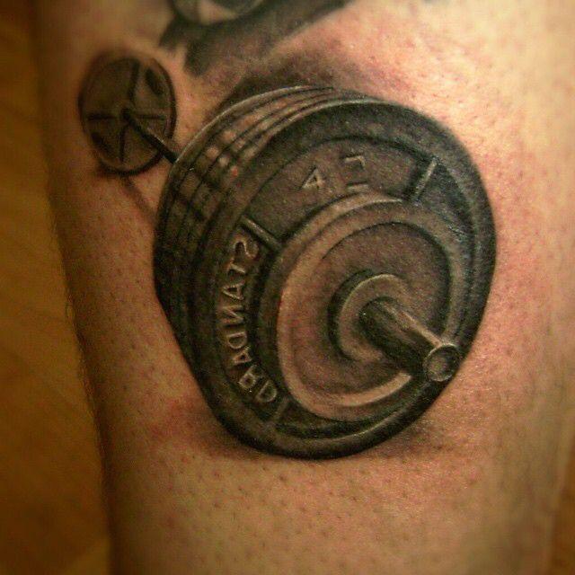 Barbell tattoo
