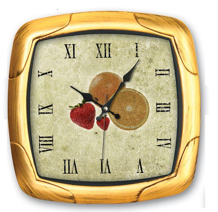 Portakal Çilek Mutfak Duvar Saati  Ürün Bilgisi ;  Ürün maddesi : Plastik çerceve, Gerçek cam Ebat : 29,5 x 29,5 cm  Mekanizması (motoru) : Akar saniye, saat sessiz çalışır Portakal Çilek Mutfak Duvar Saati Saat motoru 5 yıl garantilidir Yerli üretimdir Duvar Saati sağlam ve uzun ömürlüdür Kalem pil ile çalışmaktadır Gördüğünüz ürün orjinal paketinde gönderilmektedir. Sevdiklerinize hediye olarak gönderebilirsiniz