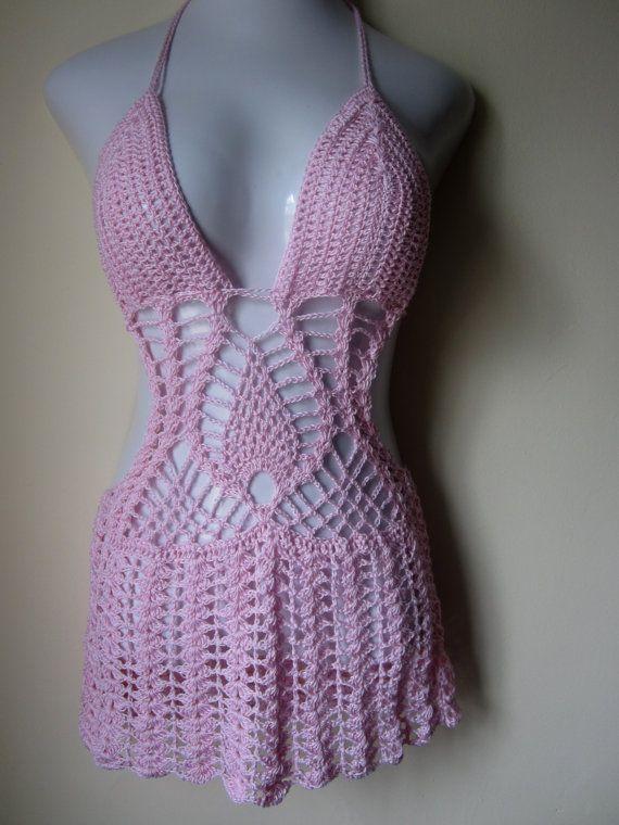 Crochet monokini monokini beach cover up by Elegantcrochets, $109.00