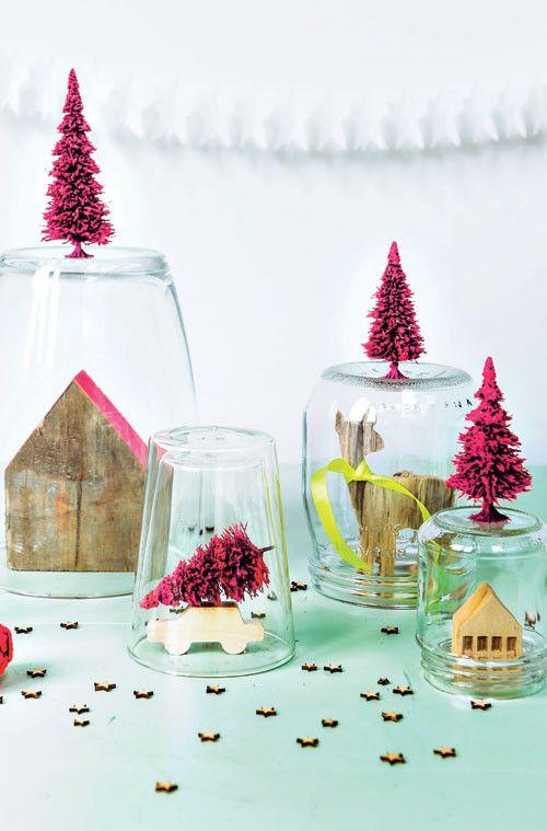 Loving the DIY christmas decorations! (Kerstspullen zijn al zo duur en stolpen nog duurder!)