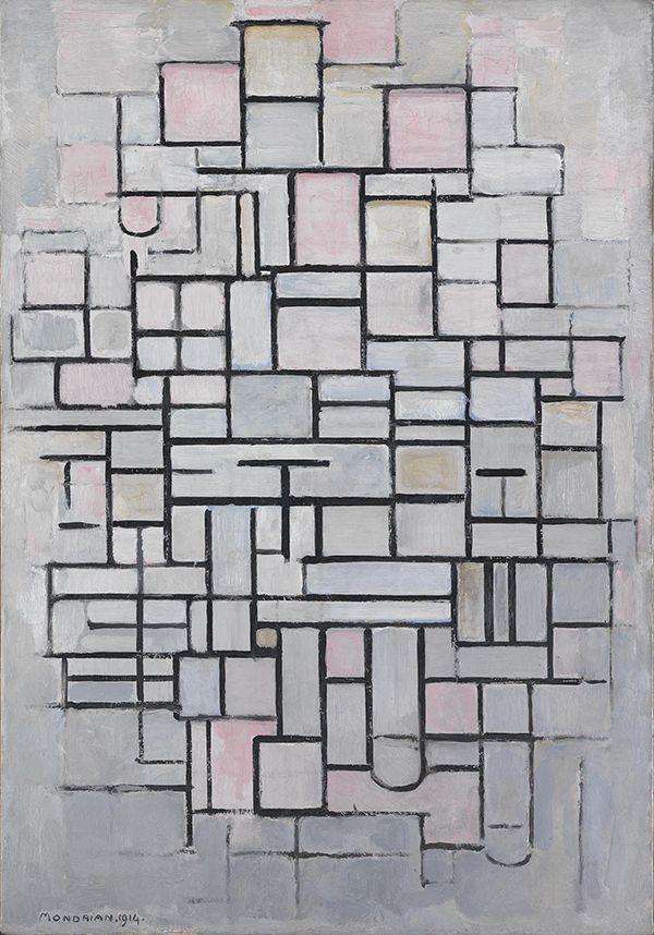 Piet Mondriaan (1872-1944) Composition No. IV (Compositie No. IV), 1914 Olieverf op doek 88 x 61 cm Gemeentemuseum Den Haag #KleurOntketend