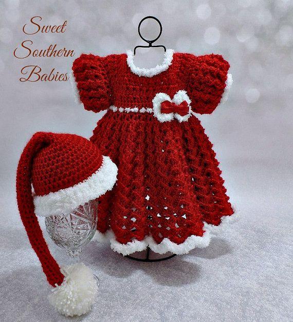 De niña rojo y blanco vestido de Navidad por SweetSouthernBabies