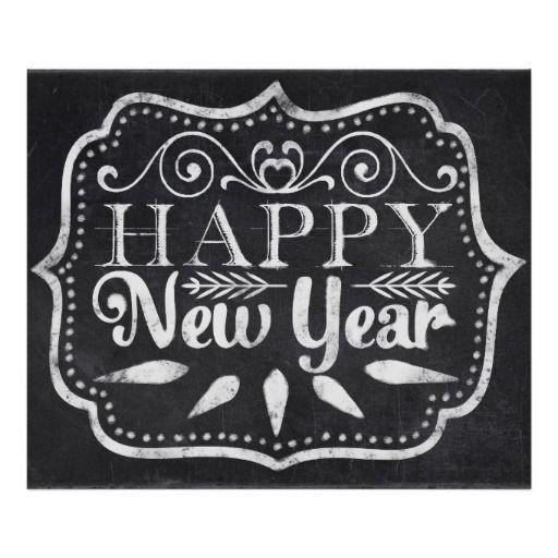 Chalkboard Happy New Year Posters - dec 12
