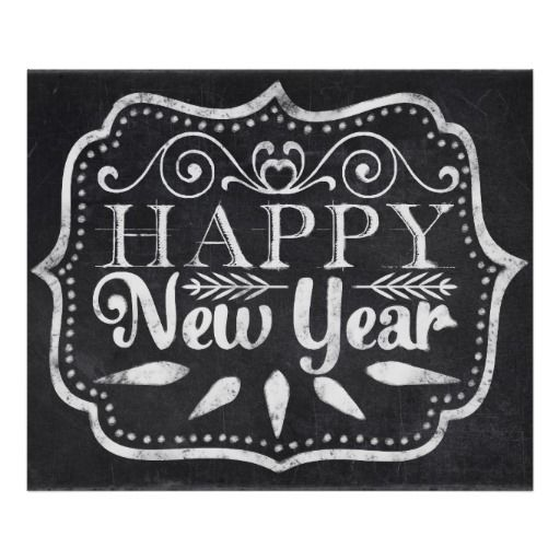 Chalkboard Happy New Year Posters - dec 12