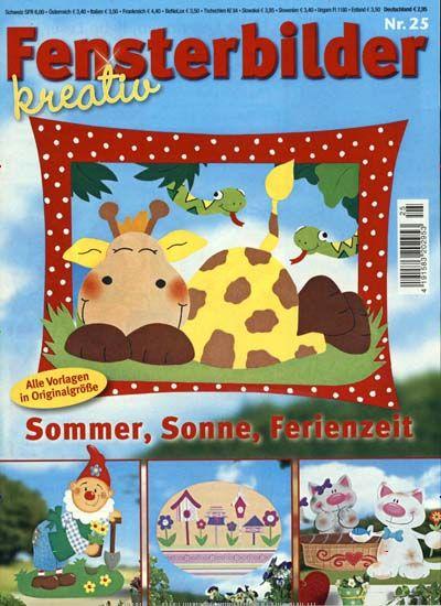 Sommer, Sonne, Ferienzeit. Gefunden in: Fensterbilder Kreativ, Nr. 25/2015