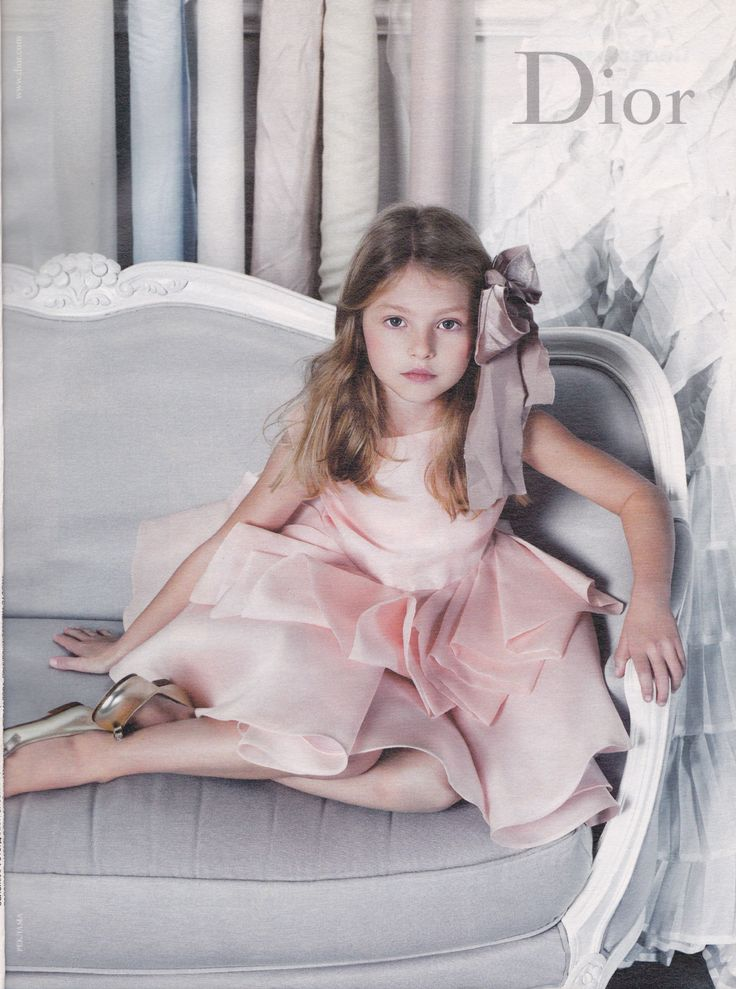 Little girl in pink Dior