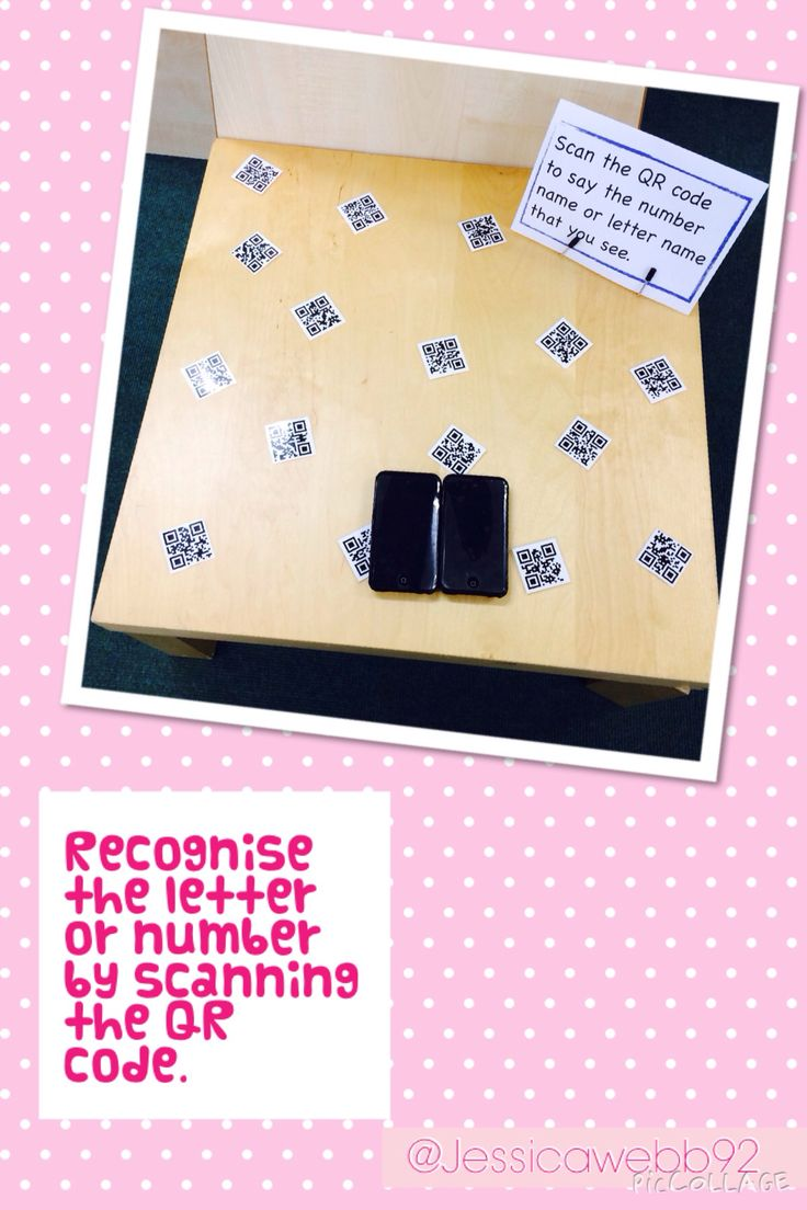 Scan the QR code and say the number or letter. EYFS