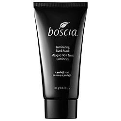 boscia - Luminizing Black Mask #sephora - Intense. The C in it infuses in skin (temp glow after using) and it also has a lot of the clay properties to clean out pores - feels like a giant bjore strip - do not get near the eye area..on the downside, messy