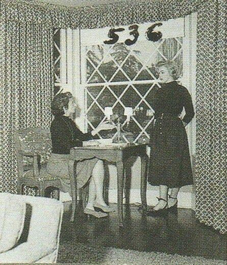Marilyn and Natasha Lytess in Natasha's home at 611 North Crescent Drive photographed probably by André De Dienes, end of 1951.