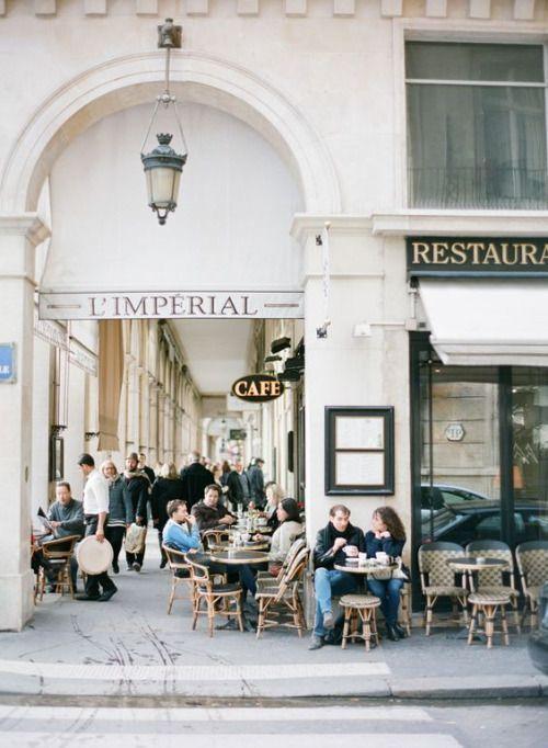 Paris café corners.