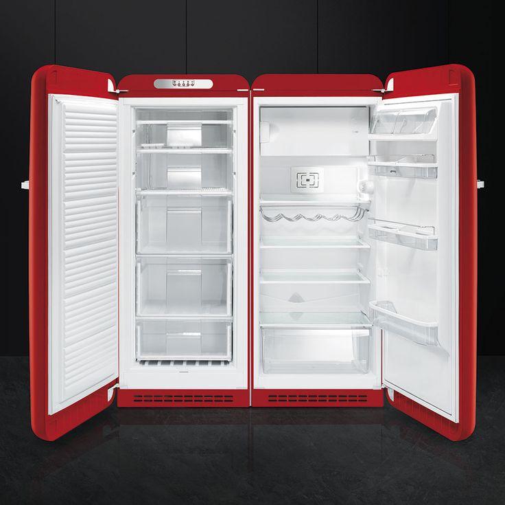 Smeg vrijstaande rode vriezer - Product in beeld - Startpagina voor keuken ideeën | UW-keuken.nl