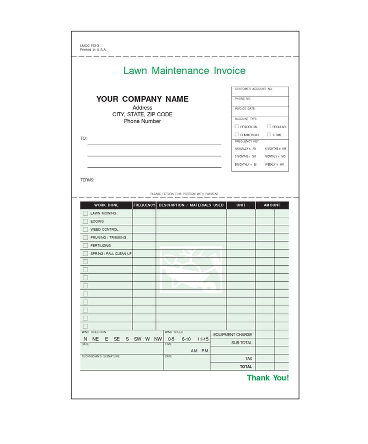 Best Invoices Images On   Lawn Service Free Stencils
