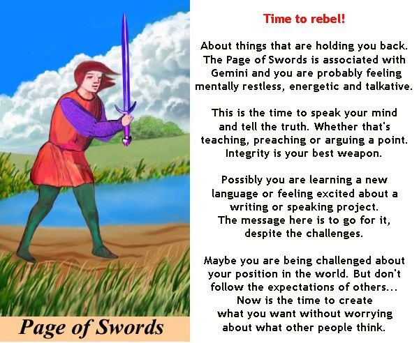 PAGE OF SWORDS