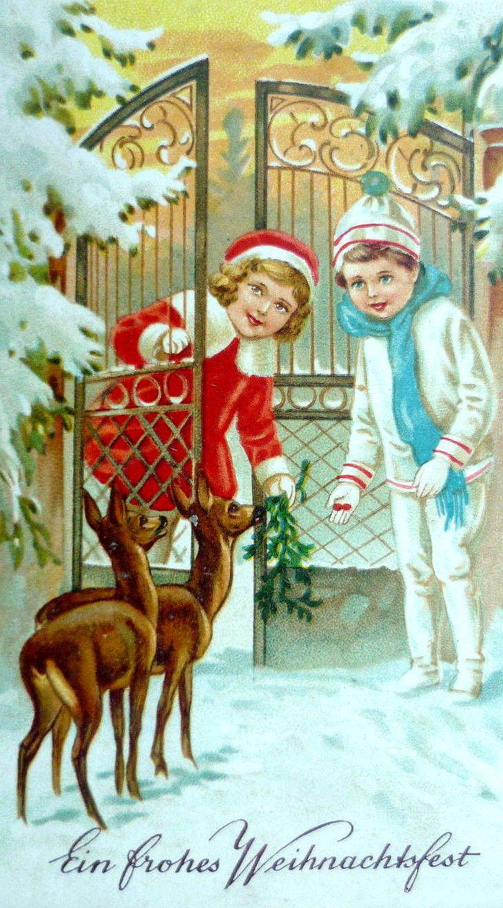 500 best christmas cards iii vintage images on pinterest old hiver et noel illustrations vintages kristyandbryce Image collections