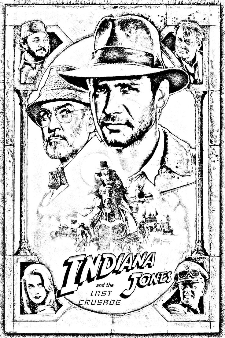 12 curated coloring pages classic movie posters ideas by - Coloriage indiana jones ...
