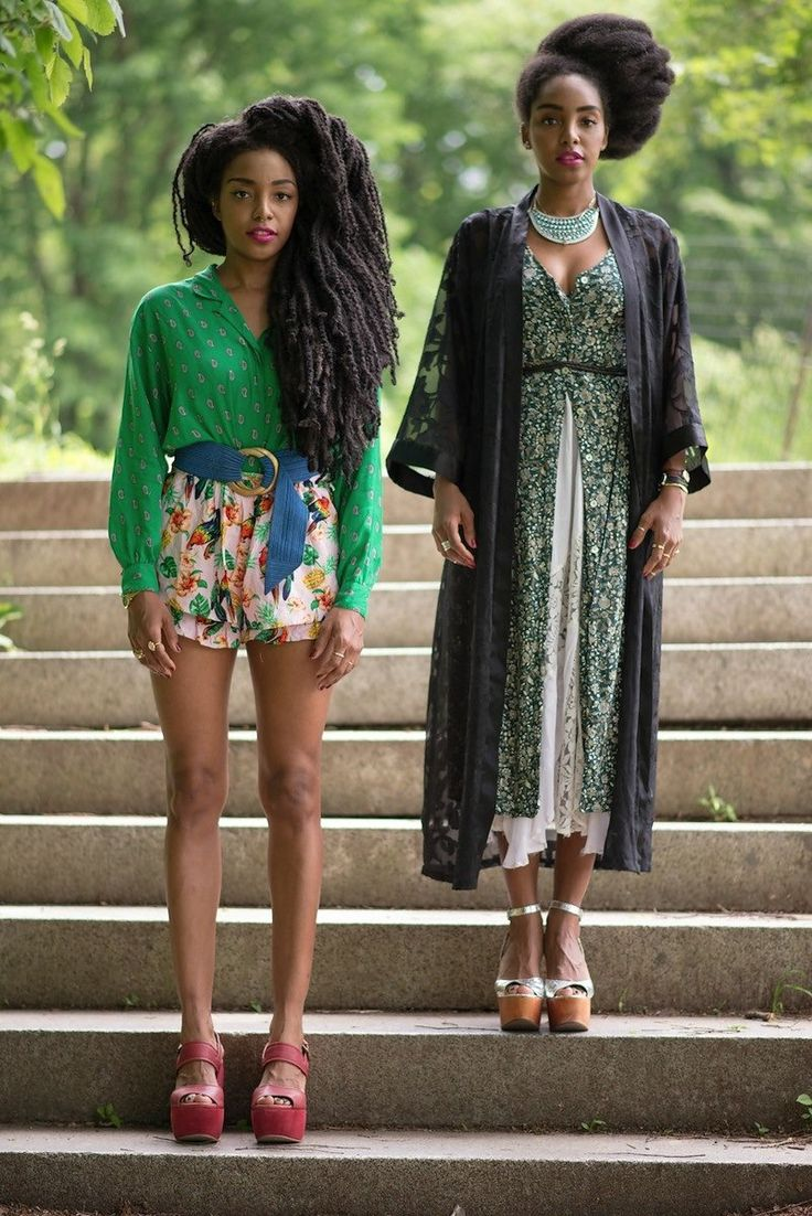Twin Dressing: Urban Bush Babes's Cipriana Quann Shares a Photo Diary of Two Sisters' Style Evolution--their hair is GORGEOUS! Plus, they both have such great style!