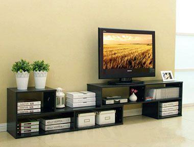 7 in 1 Large Adjustable TV Cabinet (Black Walnut)