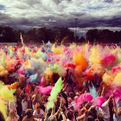 The color run #friends #stop #fun #color #no #family #party #funny #girls #run #music #F4F #instafollow #random #colors #color