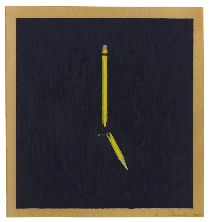 ruscha, ed broken pencil  ||| figure ||| sotheby's n09622lot7ry3fen