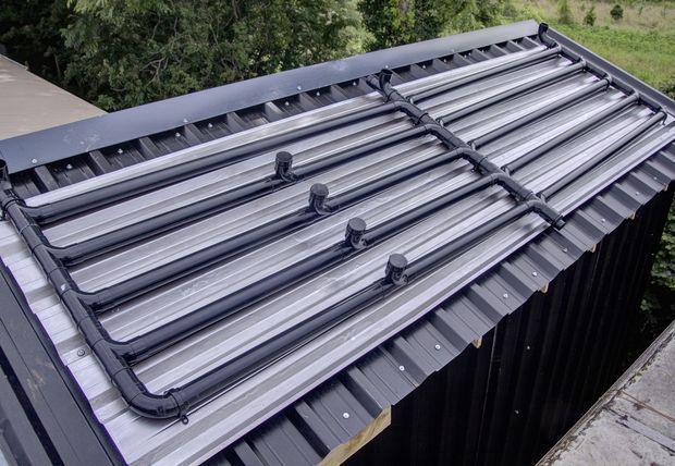 Picture of Automated Solar Hot Water Power Shower using Black Plastic Pipes