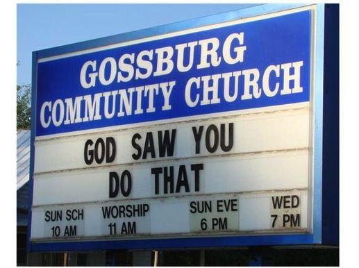Funny Church Signs - Ellen DeGeneres Photo Gallery                                                                                                                                                                                 More