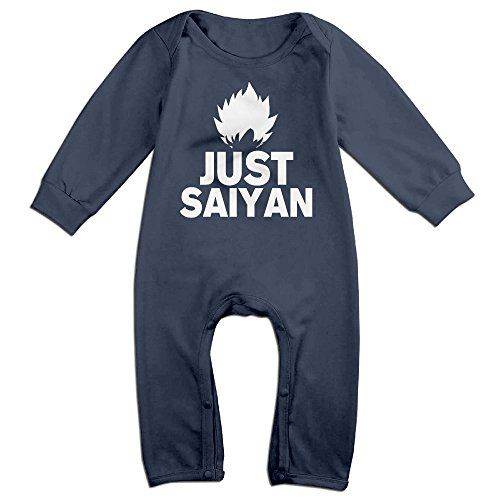 KIDDOS Baby Infant Romper Dragon Ball Super Saiyan 8 Long Sleeve Playsuit Outfits,Navy 18 Months >>> Click here for more details @