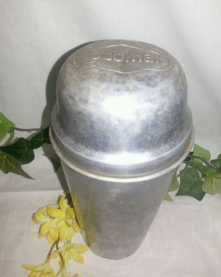 COCOMALT malted milk shaker Aluminum embossed 1920's-1930's Cocktail Maker | Collectibles, Barware, Shakers | eBay!