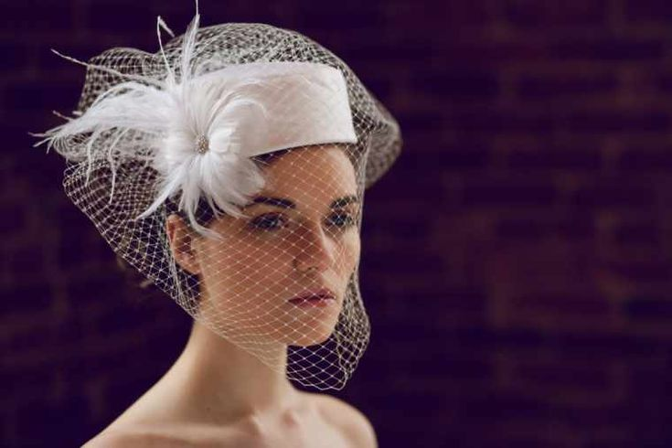 Bridal Headpieces and Hats | bridal fascinator hats with veils