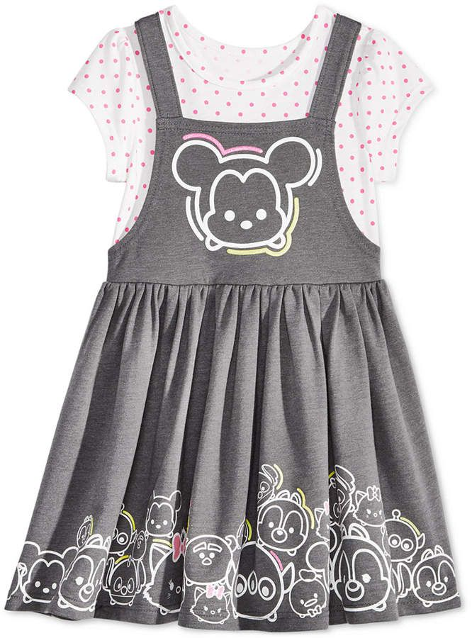 944909bdfc6 Disneyland outfit for Toddler Girl! Minnie Mouse Tsum Tsum Jumper Dress