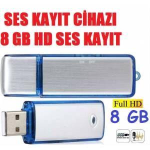 Gizli Ses Kayıt Cihazı Usb Bellek 8 GB