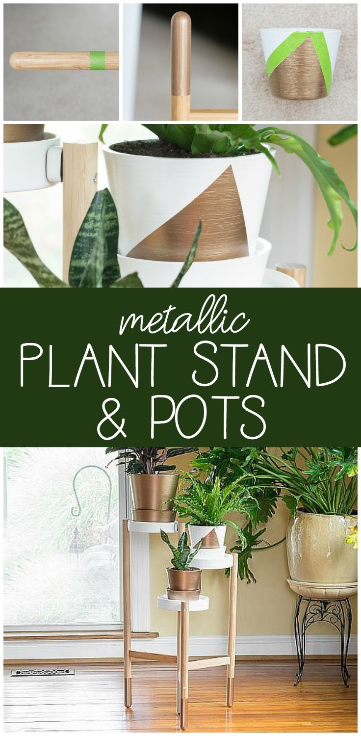 Create this project with Americana Decor® Metallics™ — Create a modern metallic plant stand and matching pots with Americana Decor® Metallics™.