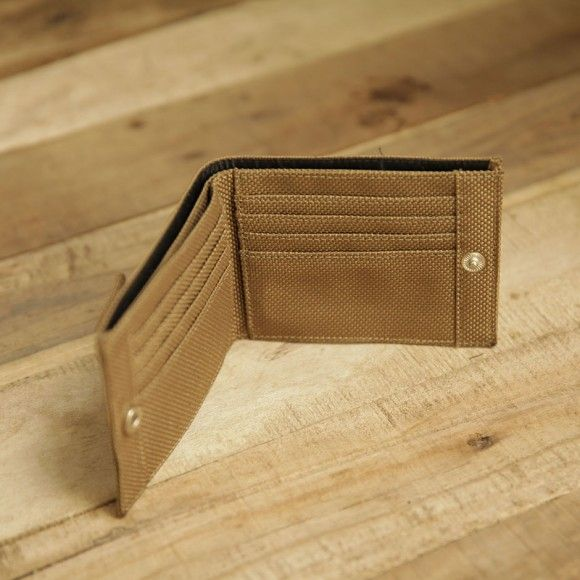 Inside wallet 402 brown. #wallet #canvaswallet #brown #insidewallet