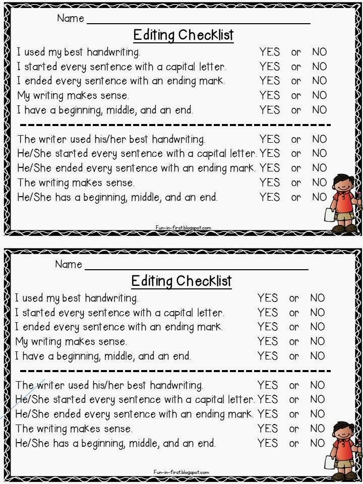 checklist for grading essays