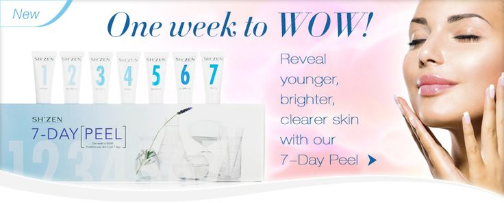 Transform your skin in 7 days with our NEW 7-Day peel heart emoticon *Available on special offer for October 2015 only. (while stocks last)