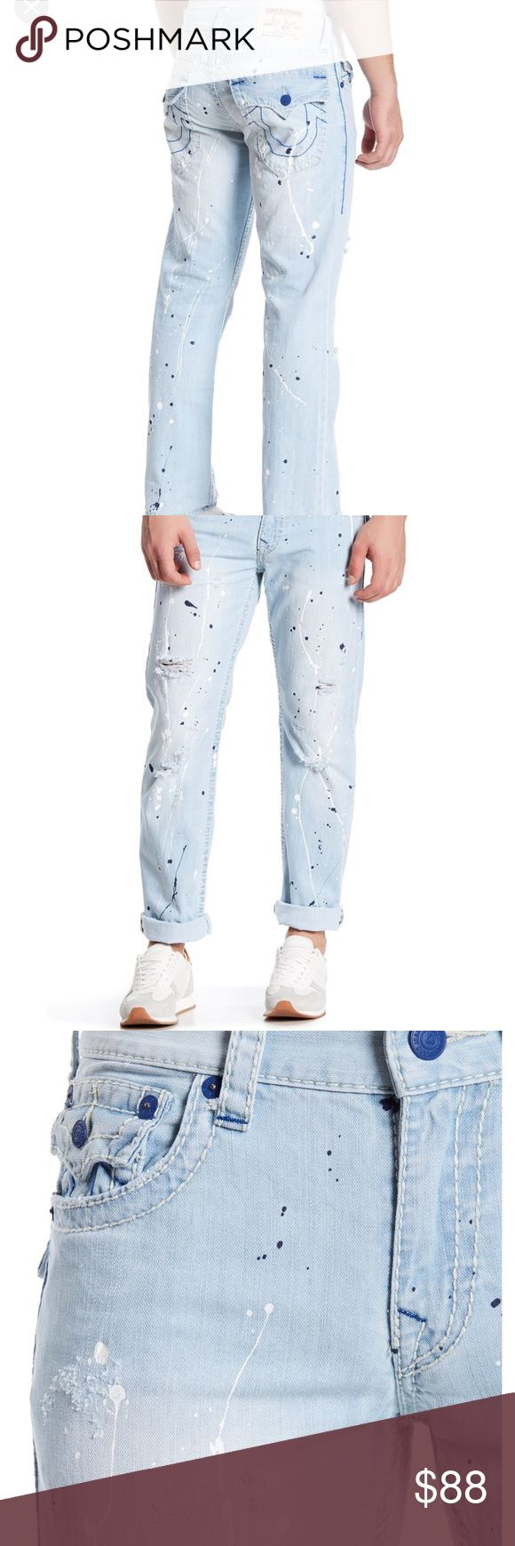 True Religion Jeans Paint Splattered Jeans True Religion Jeans Straight