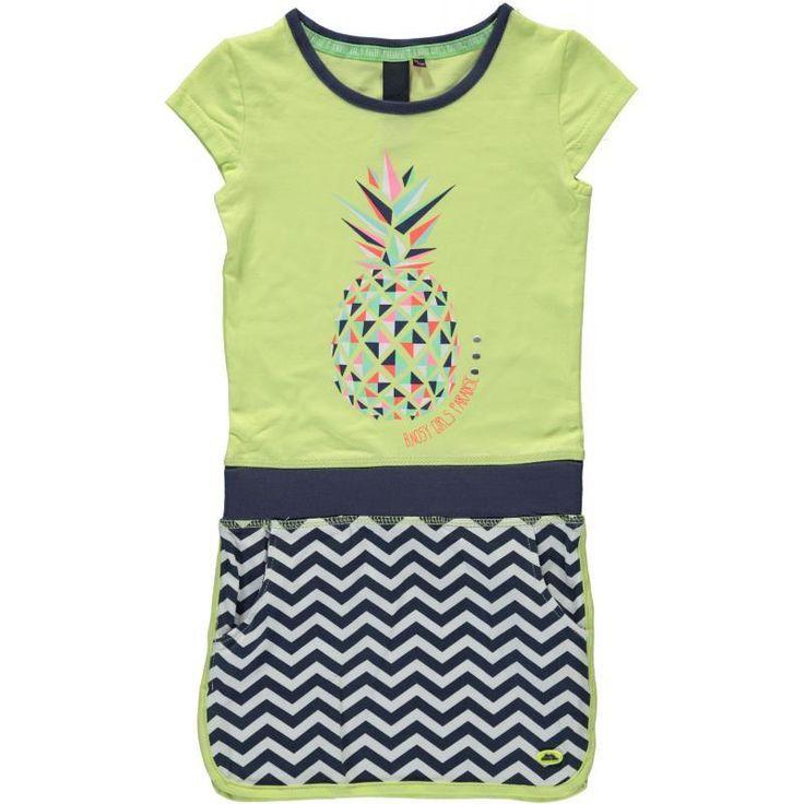 B.NOSY jurk pineapple (citron) maat: 104 en 128