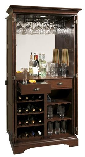 Ridgeville Wine & Bar Cabinet - Open