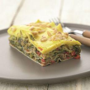 Verse lasagne met spinazie en venkel-saffraansaus · EVA maakt het plantaardig