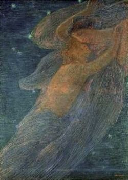 Night, 1909   Gaetano Previati (1852-1920)