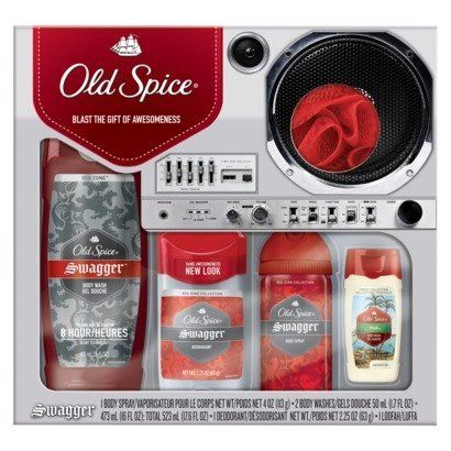 Old Spice Swagger Gift Set by Old Spice. $34.99. - 2 Body Washes. - 1 Deodorant. - 1 Loofah. - 1 Body Spray. Gift set includes:. Great gift to give for the holiday season.