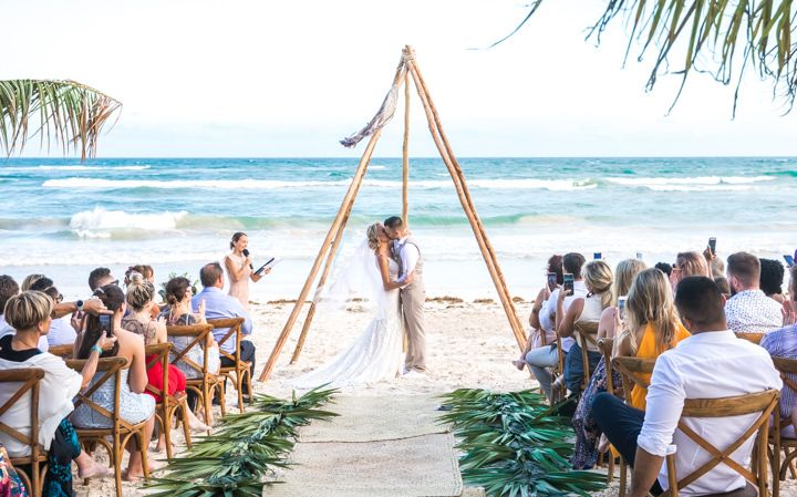 Boho Chic Mexican Jungle Beach Wedding
