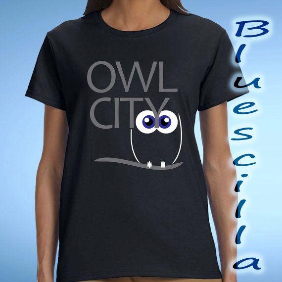 owl city logo design for women t shirt custom t by blueescilla