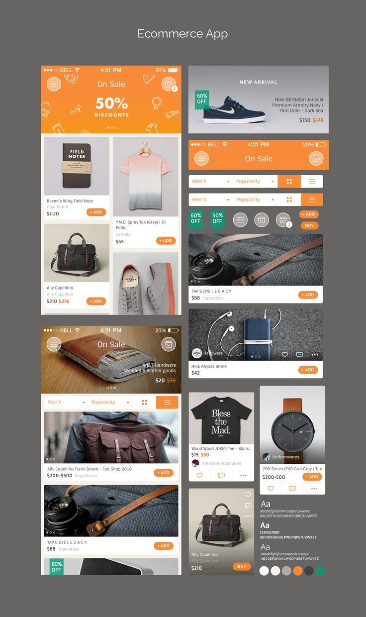 Marvel Ecommerce Freebies by Bady - UI mobile