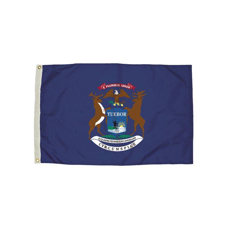 3X5 NYLON MICHIGAN FLAG HEADING &