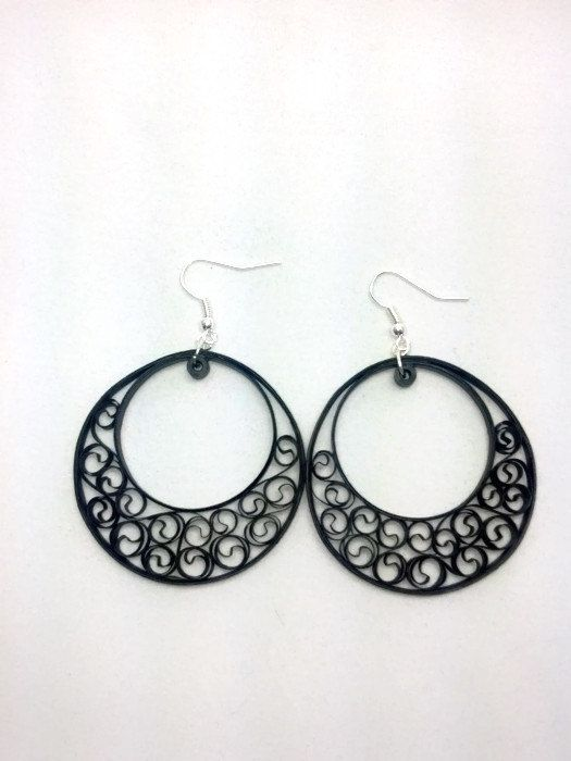 Paper Quilled Earrings Large Round by SweetheartsandCrafts on Etsy