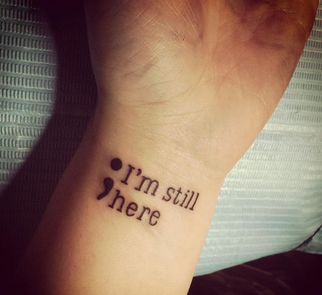 If you are looking for some semicolon tattoo ideas for for What does a 1 tattoo mean