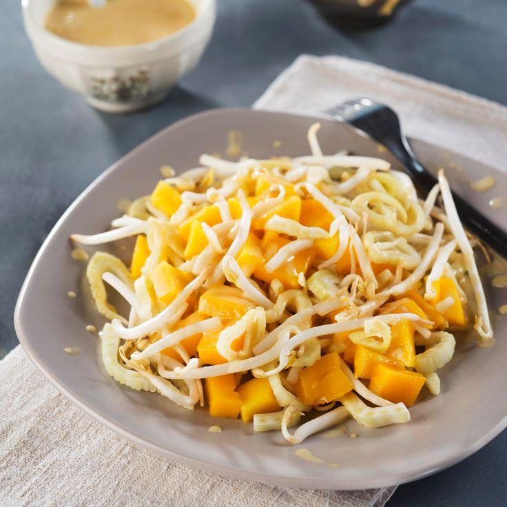 Salade de fenouil à la mangue, sauce au yaourt