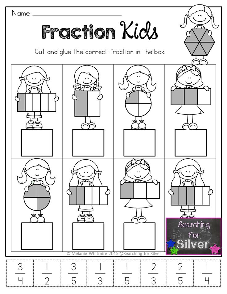 Fraction Kids and other FUN and ENGAGING hands-on math printables for Spring!