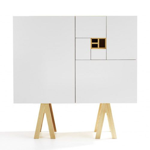 No.216 Sideboard by Jesper Ståhl for Voice. The cabinet as a whole is full A0, where the doors and compartments corresponding to the dimensions A1 down to A8.
